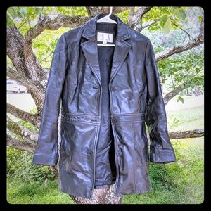 Women's Nine West Leather Coat - Size Small